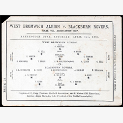 1886年FAカップ決勝プログラム