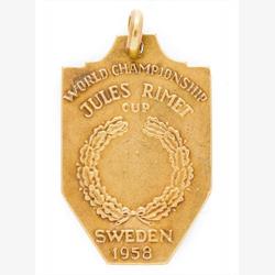 ペレ氏1958年W杯優勝メダル